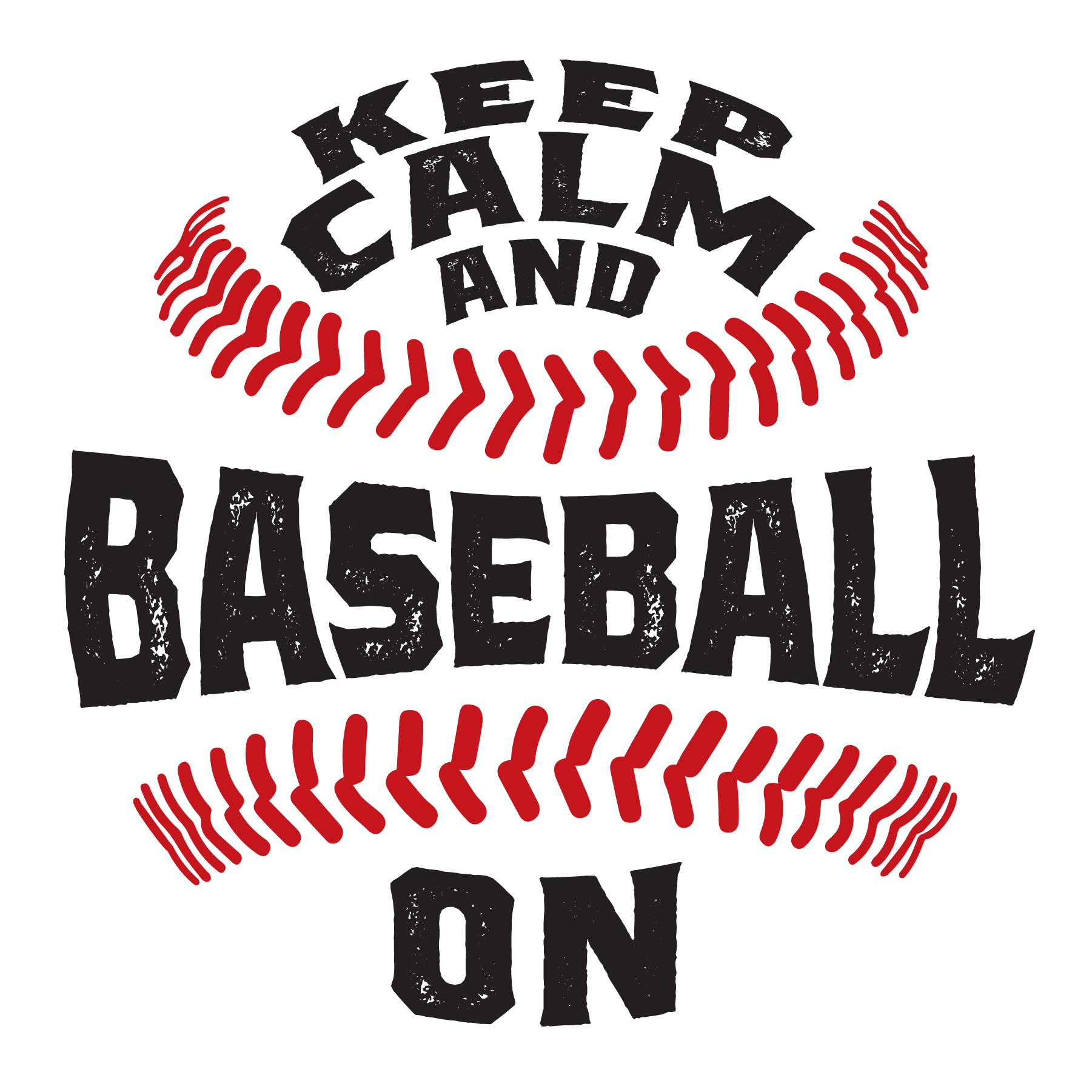 Keep Calm & Baseball On - Let Freedom Reign Logo