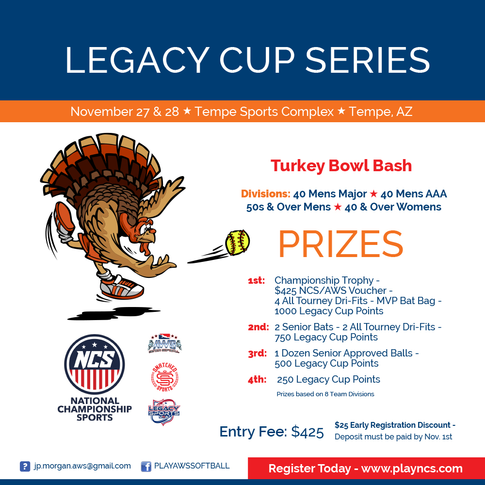 Legacy Cup Series - Turkey Bowl Bash Logo